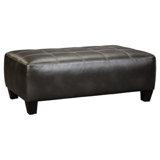 Nokomis Contemporary Charcoal Oversized Accent Ottoman