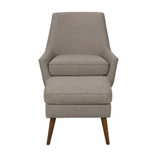 HomePop Dean Modern Accent Chair with Ottoman