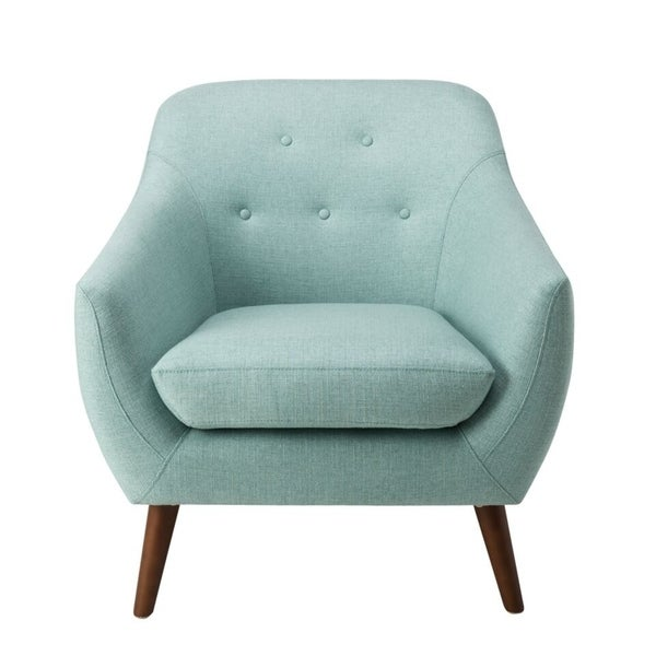 Homepop Monroe Modern Tufted Accent Chair   Aqua