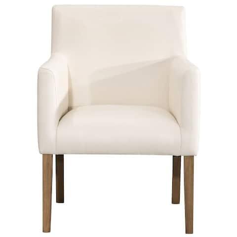 Homepop Lexington Dining Chair - Cream Faux Leather