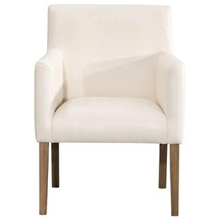 Homepop Lexington Dining Chair   Cream Faux Leather