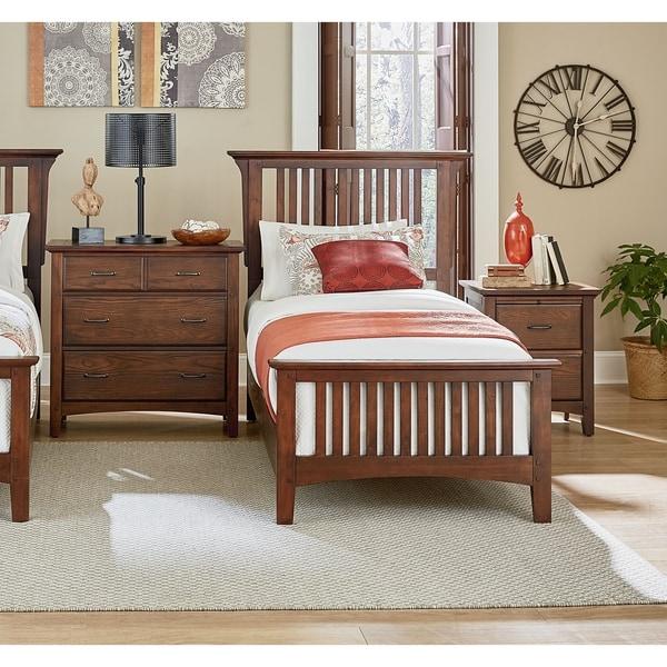 Modern Mission Vintage Oak Finish Bed Set. Opens flyout.