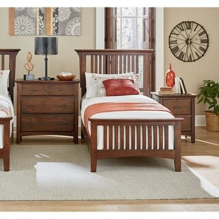 INSPIRED by Bassett Modern Mission Vintage Oak Finish Bed Set