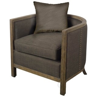 Link to Mercana Sloan I Black Barrel Chair Similar Items in Accent Chairs