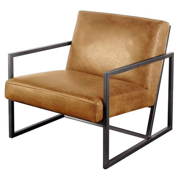 Mercana Armelle II Brown Leather Accent Chair