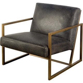 Mercana Armelle I Black Leather Accent Chair