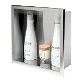 ALFI brand 12 x 12 Polished Stainless Steel Square Single Shelf Bath Shower Niche