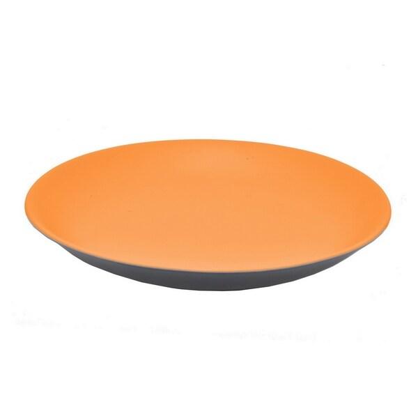 Three Hands Platter-Orange-Ceramic