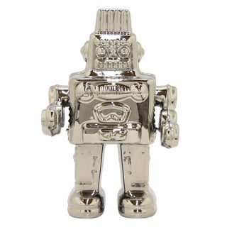 Three Hands Ceramic Robot-Silver
