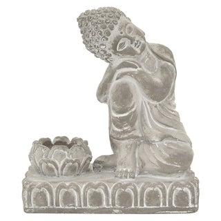 Three Hands Sleeping Buddha With Candle Holder
