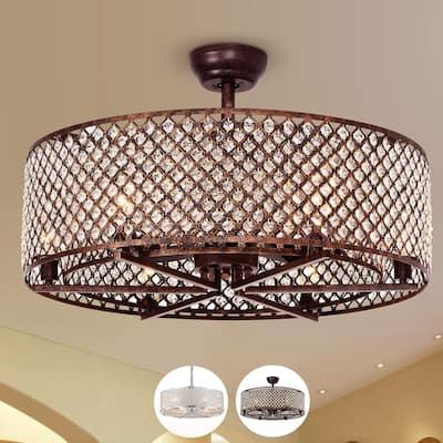Miyaka 6-light Metal 29-inch Lighted Ceiling Fan