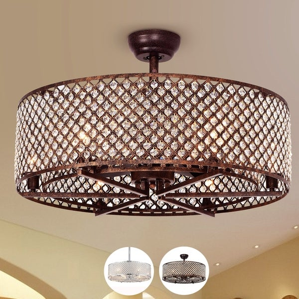 Shop Miyaka 6-light Metal 3-blade 29-inch Lighted Ceiling