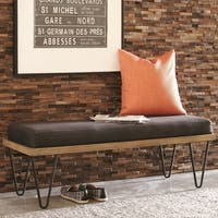 Modern Industrial Inspired Design Accent Bench with Hairpin Legs
