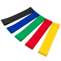 5-Pack Precision Mini Exercise Bands - multi