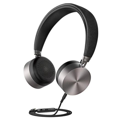 Mpow Headset Hi-Fi Stereo Earphones, Wired Metal Shell Headphone with Built-in Mic
