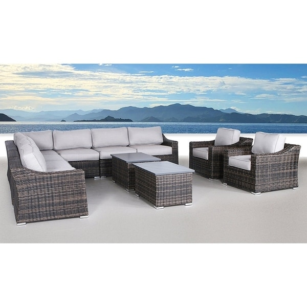 Patio Furniture Sofa Garden Sectional Set Resort Grade No Embly Required