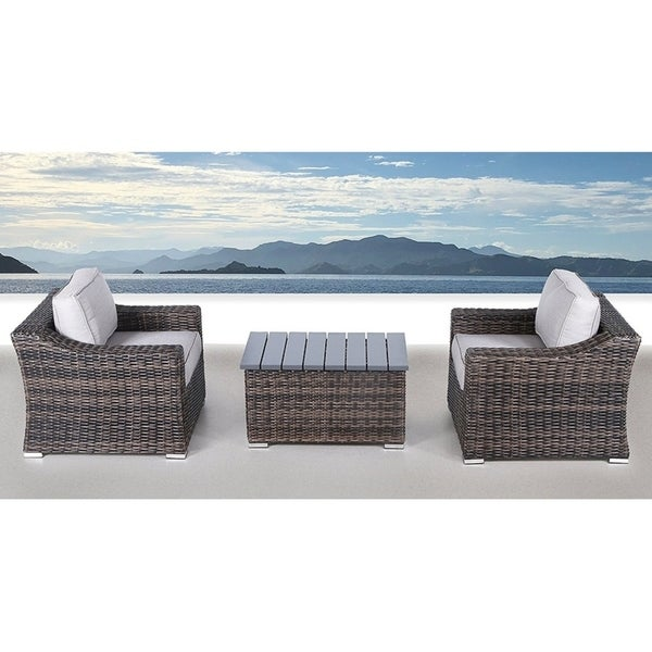 Patio Furniture Sofa Sectional Set Resort Grade No Embly Required 3 Piece