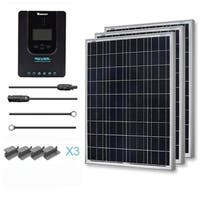 Renogy 300 Watt 12 Volt Polycrystalline Solar Starter Kit with 40A Rover MPPT Charge Controller