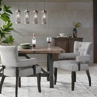 "INK IVY Orlando Grey Dining Arm Chair (set of 2) - 23.25""w x 25.75""d x 35""h(2)"