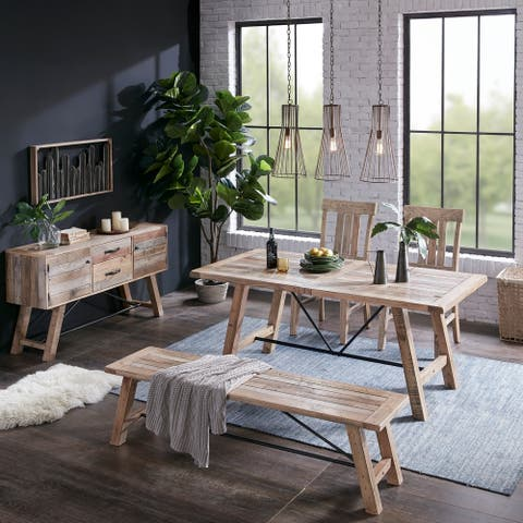 """INK IVY Sonoma Natural/Grey Dining Side Chair (Set of 2) - 20""""w x 24.5""""d x 39.75""""h (2)"""