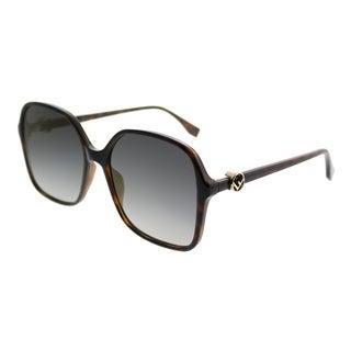 Fendi Square FF 0287 F is Fendi 086 FQ Women Dark Havana Frame Gold Mirror Lens Sunglasses