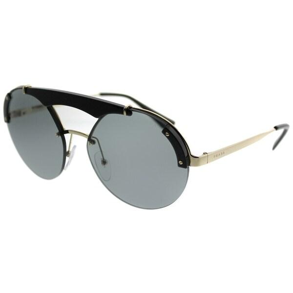 Bridge Feature Round Sunglasses in Pale Gold Black PR 52US 1AB3C2 37 Prada wH8azEtG