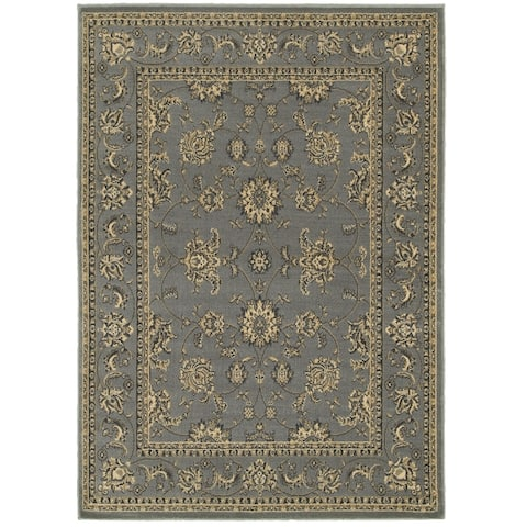 LR Home Grace Traditional Jacobean Indoor Area Rug ( 9 ft. x 12 ft. ) - 9' x 12'