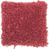 Mina Victory Short Cut Hot Pink Shag Throw Pillow (17-Inch X 17-Inch)