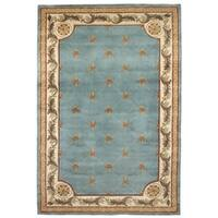 Jewel Wedgewood Blue Fleu-De-Lis - 3'6 x 5'6