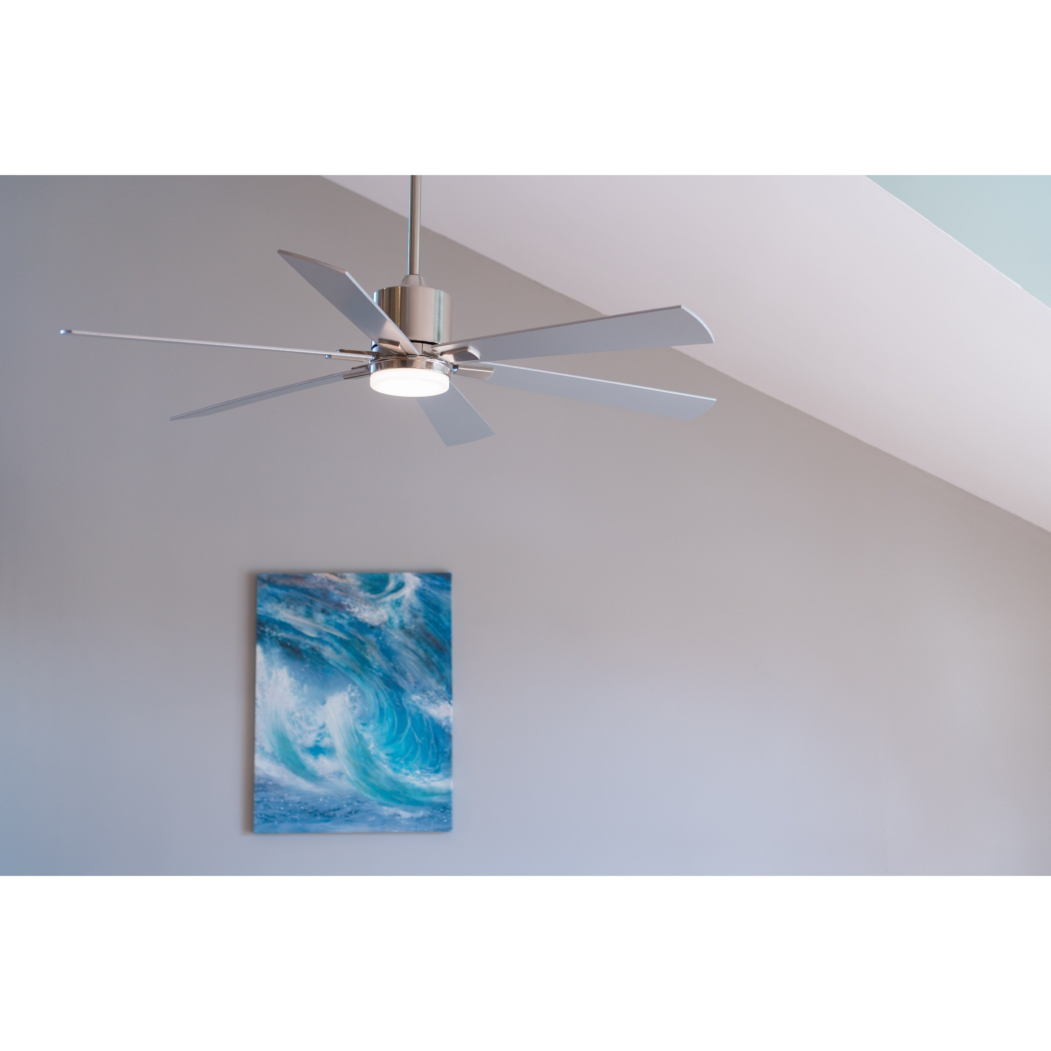 Quiet Nickel Indoor Outdoor Ceiling Fan