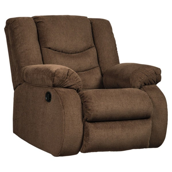 Signature Furniture By Ashley: Shop Tulen Contemporary Rocker Recliner Chocolate