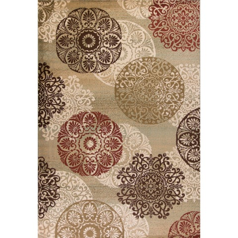 Copper Grove Lienz Sage Accents Multicolor Area Rug