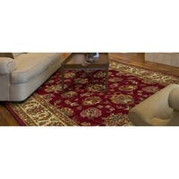 Lifestyles Red/Ivory Kashan - 7'10 x 9'10