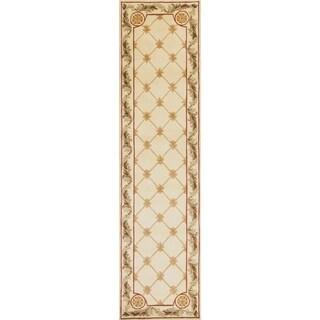 Jewel Antique Ivory Fleur-De-Lis - 2'6 x 10'