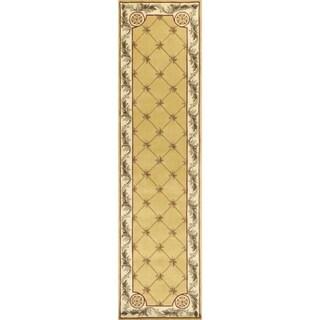 Jewel Gold Fleur-De-Lis - 2'6 x 10'
