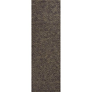 Porto Mocha Heather Herringbone - 2' x 7'6