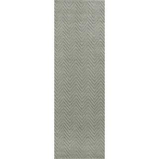 Porto Grey Heather Herringbone - 2' x 7'6