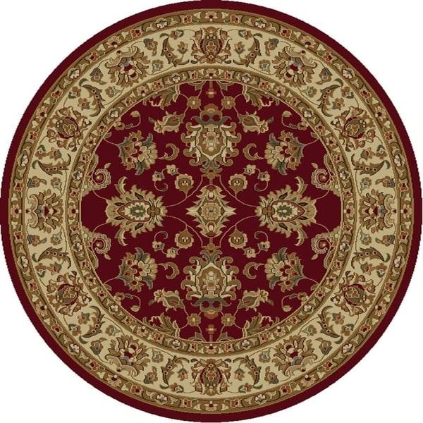 Lifestyles Red/Ivory Kashan - 7'10
