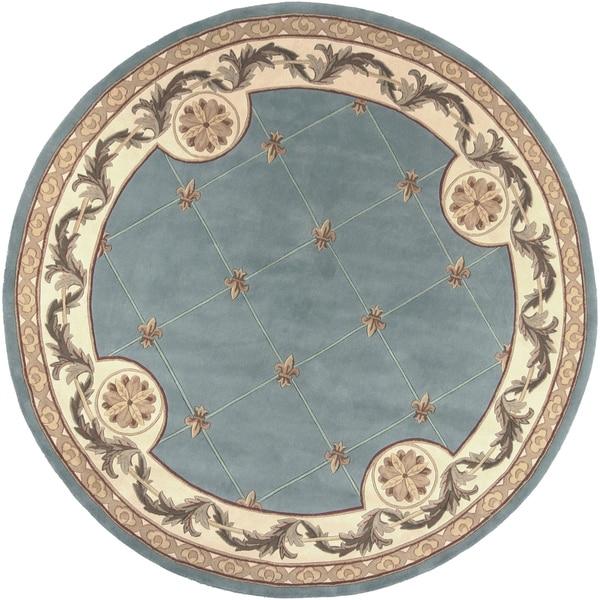 Jewel Wedgewood Blue Fleur-De-Lis - 7'9