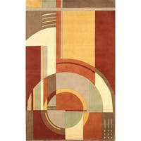 Signature Rust/Coffee Art Deco - 5'3 x 8'3