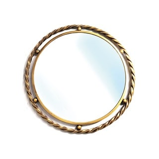 "Handmade Copper Cleo Mirror - 28"" x 28"""