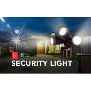 LEDPAX LED Security Light, 30W (125W Equivalent) Motion Sensor, 2700 Lumens, 5000K, CRI 80, Waterproof IP65 Black
