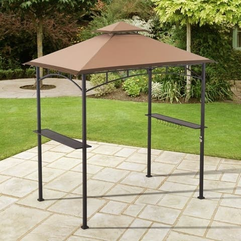 Sunjoy Replacement Canopy Tent for 8 x 5 Ft, 8.2 Ft Height Grill Gazebo Original Version, Beige