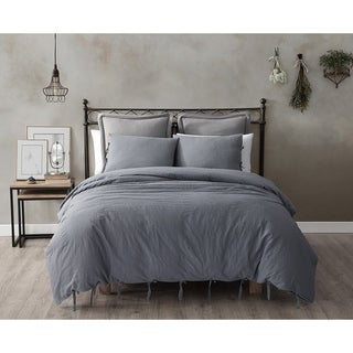 French Impression Limore 3pc Eco-Friendly Cotton Linen Duvet Set (4 options available)