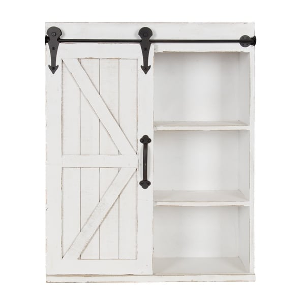 Shop Kate And Laurel Cates Wood Wall Storage Cabinet With