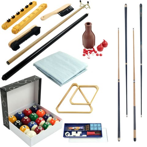 Pool Table Accessory 32 Piece Kit-by Trademark Games