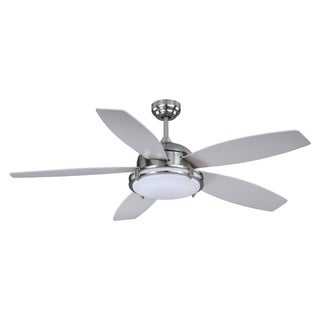 "Vaxcel Tali LED 52"" Ceiling Fan Satin Nickel"