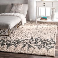"""nuLOOM Ivory Contemporary Abstract Cotton Shag Area Rug - 7' 6"""" x 9' 6"""""""