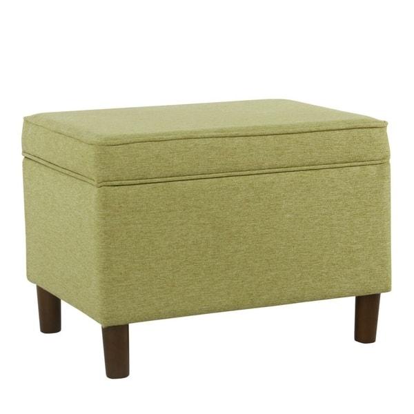 Homepop Large Green Storage Bench Overstock 20987329