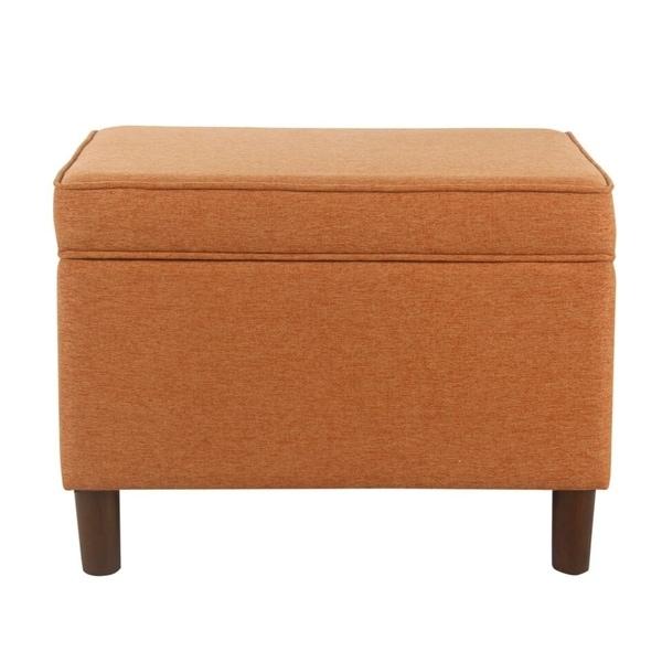 Homepop Storage Bench Reviews: Shop HomePop Large Orange Storage Bench